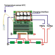 BMS 13S 60A 48V 18650 Li Ion Lithium Batterie Pack Schutz Equalizer Bord Mit Balance Für BMS Elektrische Fahrzeuge mit NTC