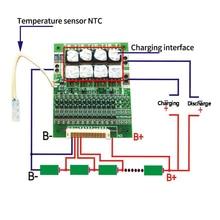 BMS 13S 60A 48V 18650 Li ion lityum pil koruma ekolayzır kurulu ile denge BMS için elektrikli araçlar NTC ile