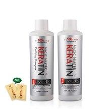 Olmadan 120ml Keratin düzleştirici ve onarım hasar saç tedavisi + arındırıcı şampuan ücretsiz yılbaşı hediyeleri
