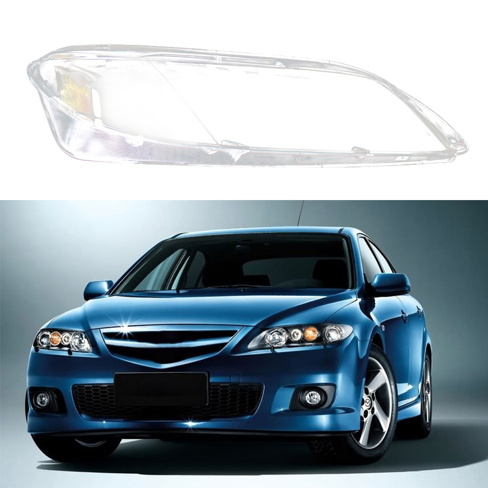 Car Headlight Lens Glass Cover Lampshade Bright Shell Repalcement For Mazda 6 2003 2004 2005 2006 2007 2008 Car Accessories