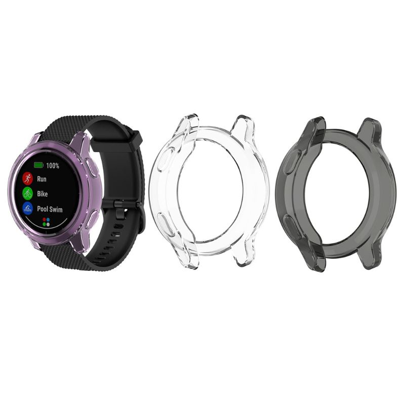 Ultra-thin Transparent TPU Soft Protector Silicone Case For Garmin Vivoactive 4S Smart Watch Accessories