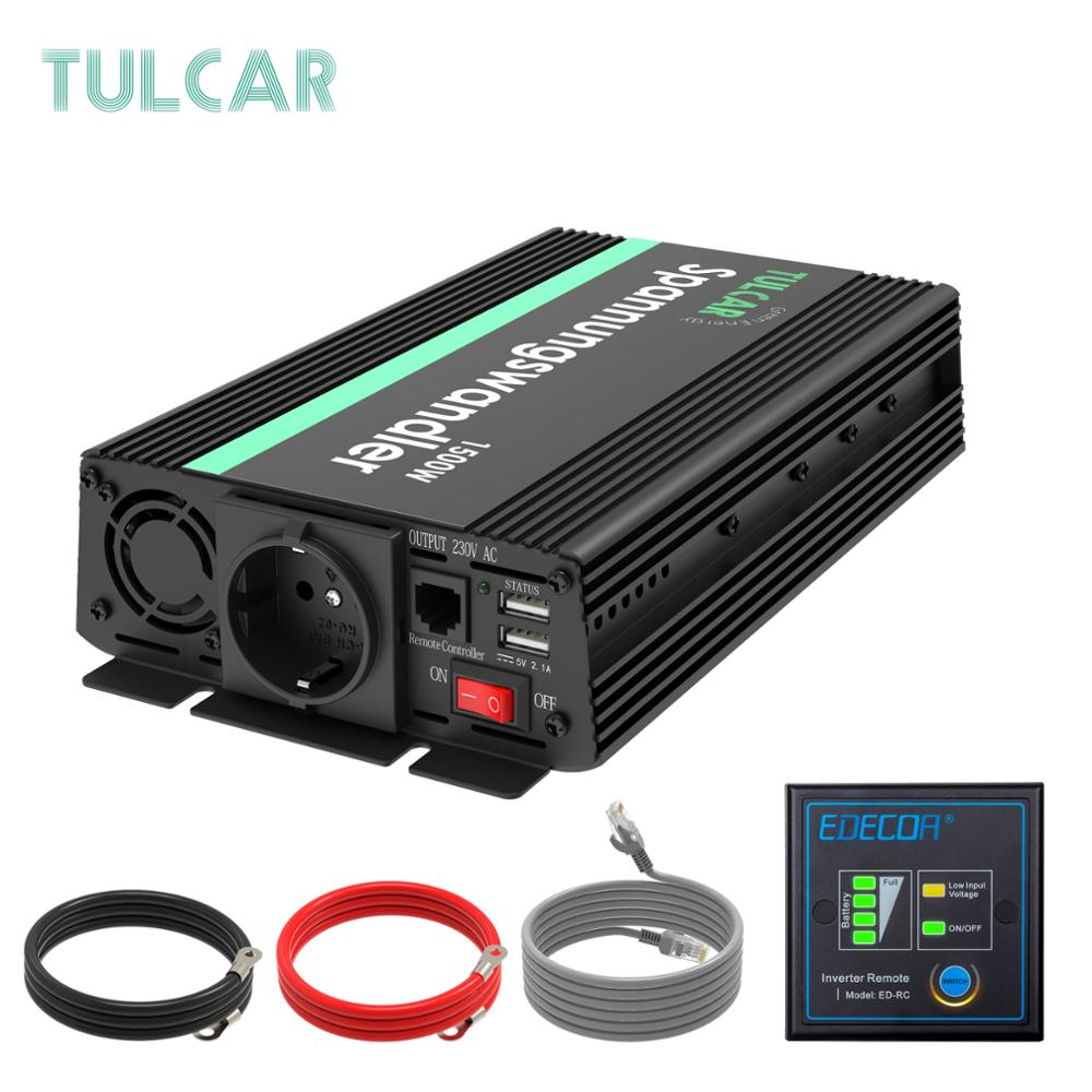 TULCAR power <font><b>inverter</b></font> <font><b>1500W</b></font> 3000W modified sine wave DC 12V AC 220V 230V 240V with LCD display image