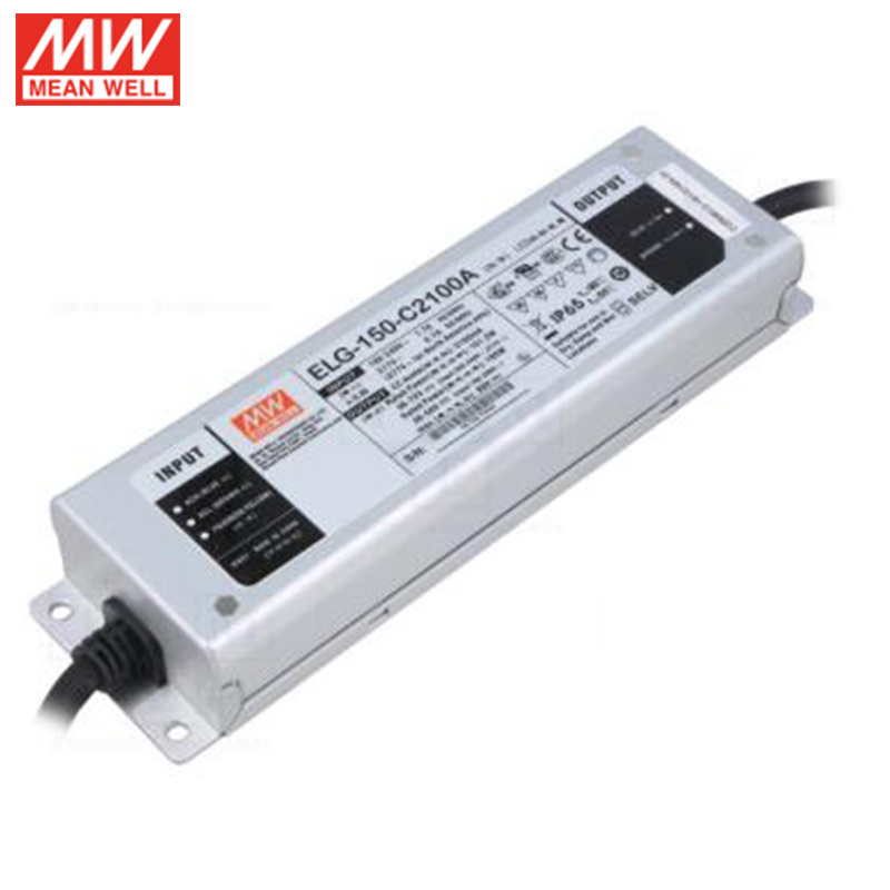 MEAN WELL ELG-150-C2100A 150 Вт мА 36 ~ 72 в с драйвером постоянного тока для светодиода водонепроницаемый IP65 Регулируемый источник питания для светодиодо...
