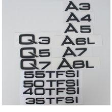 Глянцевые черные буквы для audi a3 a4 a5 a6 a7 a8 a4l a6l a8l