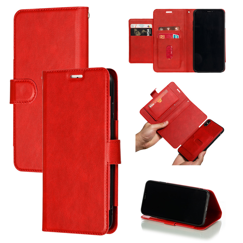 Retro PU Leather Case iPhone 7 6 6S 8 Plus Case iPhone X XS Max XR Case Cover Detachable 2 in 1 Multi Card Wallet Phone cases39