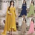 WEPBEL ИД бубарака мусульманских индийская одежда абайя женские кафтан халат Дубай, Турция принт исламские Vestiddos