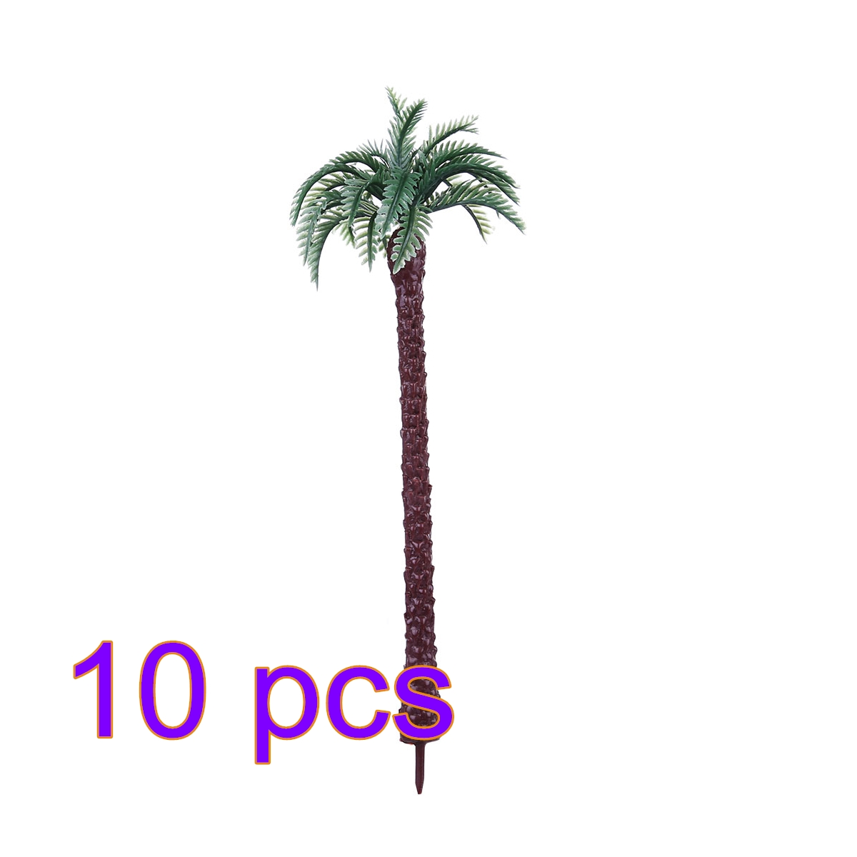 10 Pcs 19cm Plastic Coconut Palm Tree Train Railroad Architecture Diorama Tree Model Trees For Diy Miniature Landscape