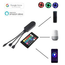 Inteligentny kontroler led DC12-24V WIFI inteligentny kontroler przez pilot aplikacji pracy z Alex Google home do RGB/RGBWW światło taśmy