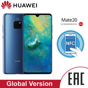 HUAWEI Mate 20 Global Version 6GB 128GB smartphone 6.53 inch Mobile Phone 4000mAh Battery Face ID unlock Leica Triple camera
