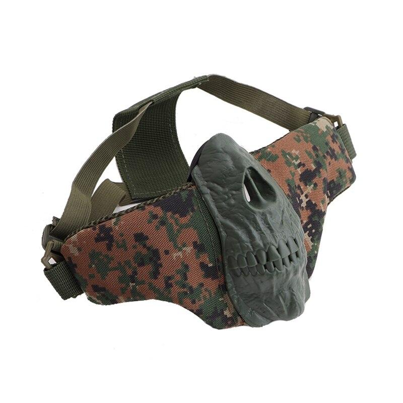 Halbe Gesicht Maske Skeleton Muster Leichte Falten Mund Protector Für CS Spiele-in Fahrradgesichtsmaske aus Sport und Unterhaltung bei title=