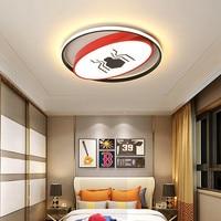 Modern LED Ceiling Lights for Baby Girls Bedroom Cartoon Spider/bat man red/yellow ceiling lamp for children study room Bedroom