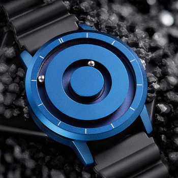 Creative Watch Blue Rose Gold Black Sliver Magnetic Ball Metal Multinational Watch Men's Fashion Rubber Sports Watch Male Watch - DISCOUNT ITEM  40% OFF All Category