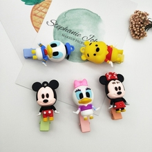 New Cute Disney Mickey Minnie Hairpin Hair Rope Cartoon Popular Cloth Hair Clip Headdress Girl Children Gift 3D Hair Accessories cute cartoon girl mickey hair rope minnie doll anime daisy donald headband for kid knotted hair loop women holder headdress gift