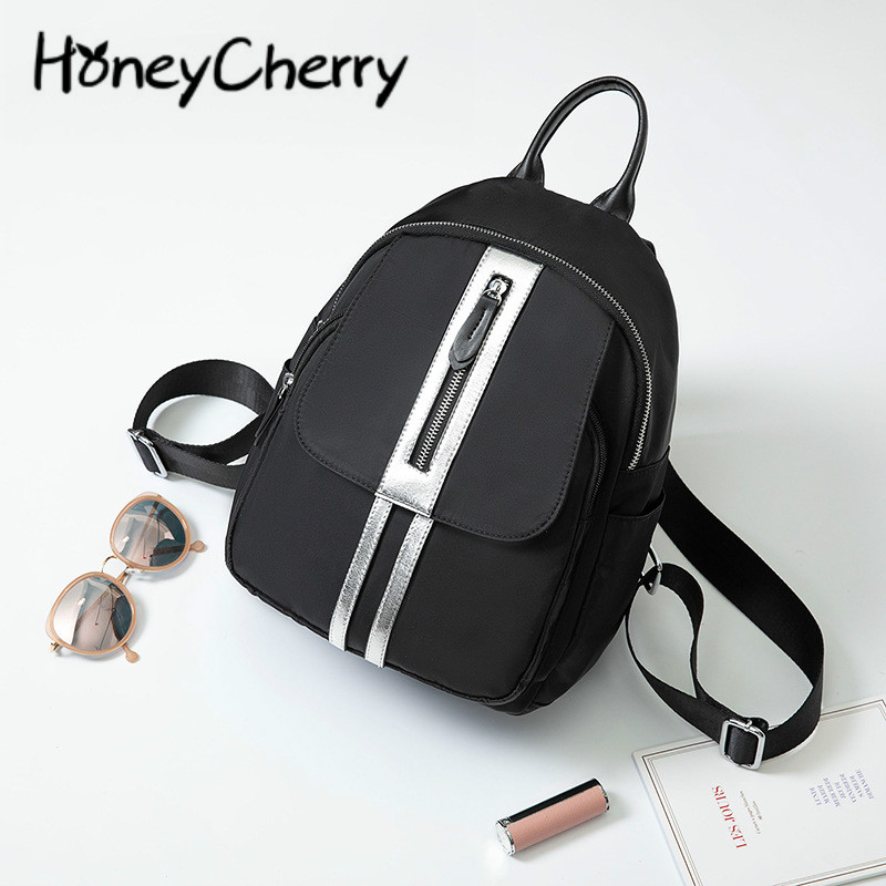 Women Canvas Backpack 2019 New Women Bag Fashion Waterproof Material Backpack Women Backpack Silver Waterproof Oxford Bag