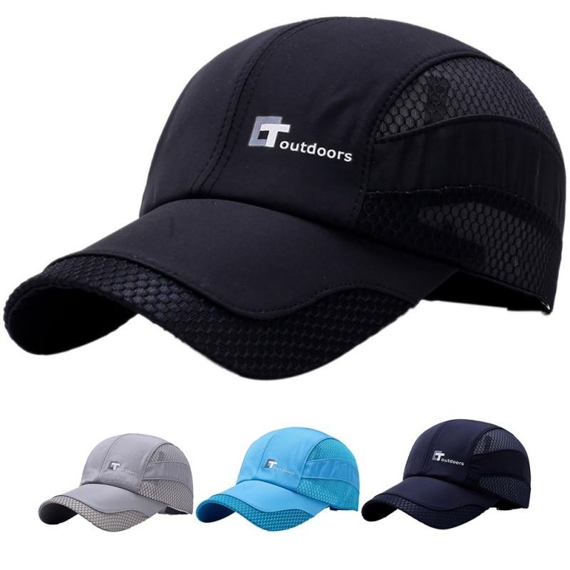 2018 New Brand  Summer Men Breathable Mesh Cap Sport Cap Quick Dry Hat Climbing Running Sport Hats