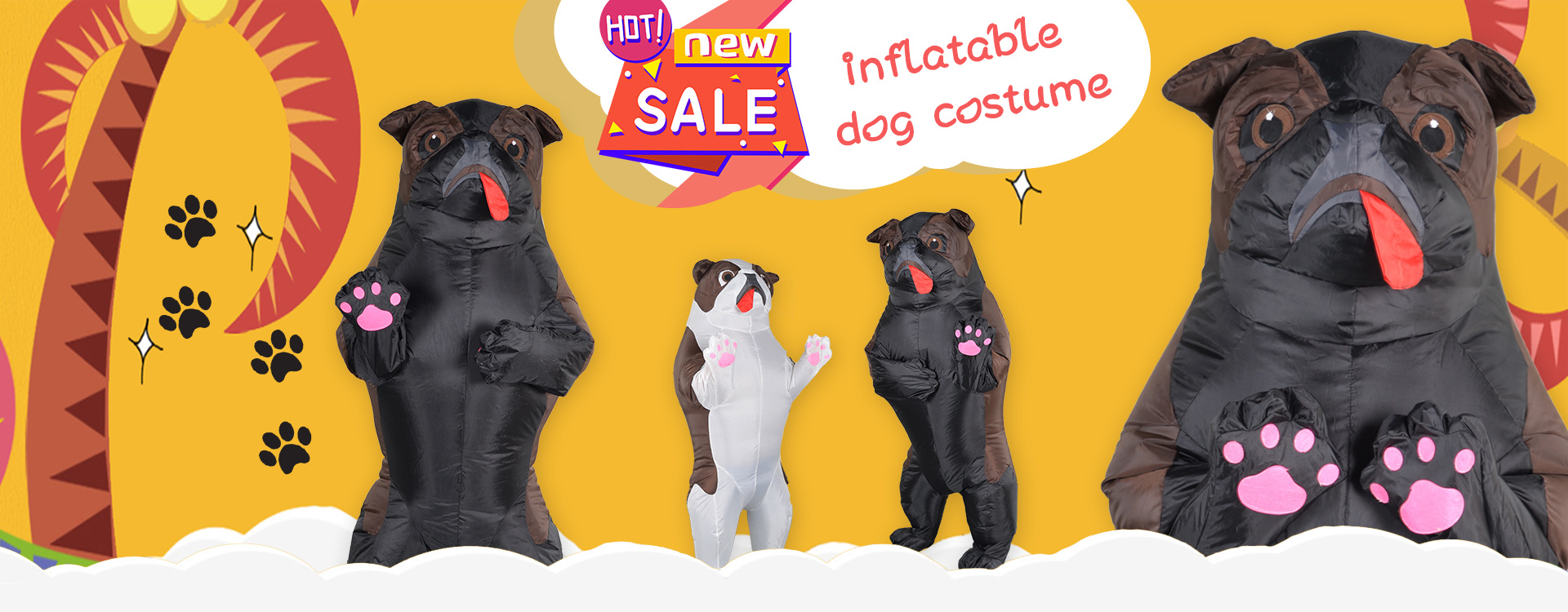 Cachorro quente traje inflável festa cosplay trajes