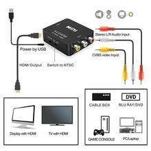 Av para hdmi-conversor de áudio de vídeo compatível av2 rca para 1080p conversor de áudio de vídeo mini suporte moniter tv mais novo