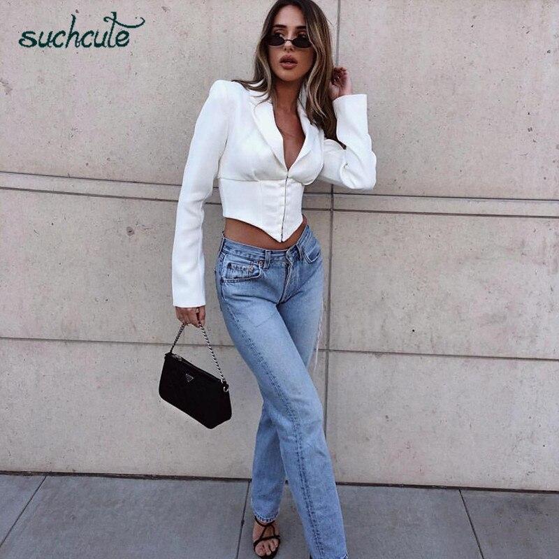 SUCHCUTE Jacket For Women None Plus Size Harajuku Slim 2019 Windbreaker Streetwear Coat Female Adjustable Tip Short