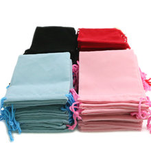 50pcs 10*12cm Velvet Drawstring  Bag/Jewelry Bag Christmas/Wedding Gift Bags Black blue pink  Red Wholesale
