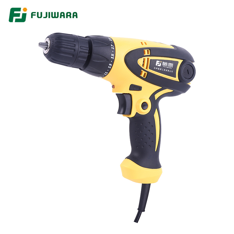 FUJIWARA 350-420W Electric Screwdriver Power Impact Drill  220V-240V Screw Wrench  19-Speed Adjustable