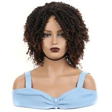 Short Wigs Dreadlock Heat-Resistant Afro Twist Curly Synthetic Black Women Ombre