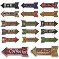 Pfeil Zinn Zeichen Plaque Metall Vintage Wand Hause Garage Bar Pub Restaurant Mann Cave Kaffee Kunst Decor 16x45 CM Persönlichkeit Decor