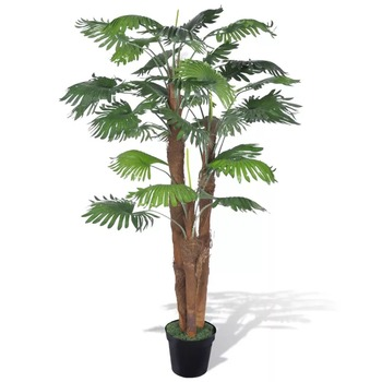Vidaxl Artificial Fan Palm Tree With Pot 180cm Potted Ornament Christmas Decoration Home Garden Decor V3