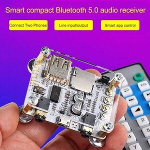 Image 4 - Módulo adaptador de Audio y receptor Bluetooth 5,0, transmisor de altavoz con cable, compatible con tarjeta TF de disco U, Control de aplicación AUX de 3,5mm