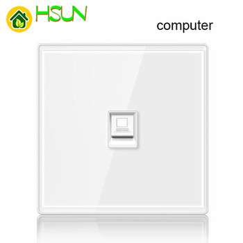 86 type White tempered glass reset toggle switch 1 2 3 4 gang 1 2 way retro hotel creative switch USB France Germany UK socket 17