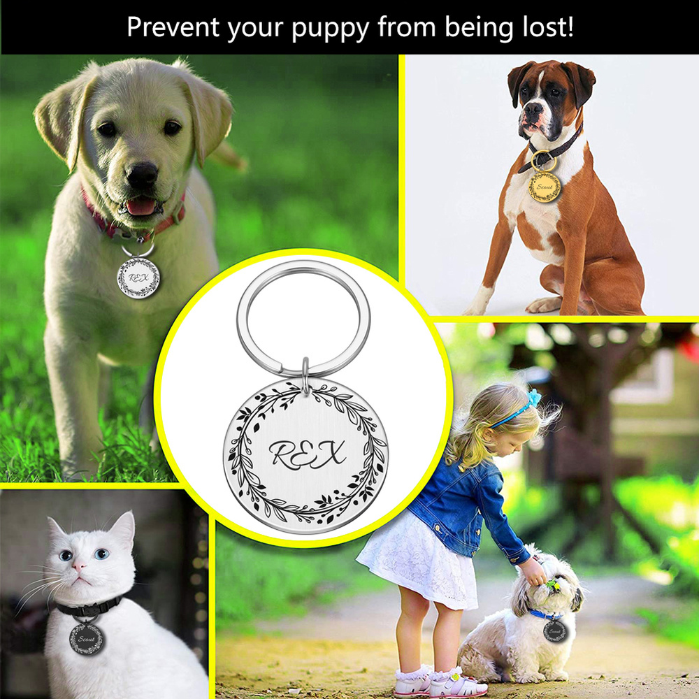 Collars, Harnesses & Leashes Dogs New Arrivals Personalized Dog Cat ID Tags  My Pet World Store