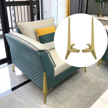 1PCS 15cm Gold Furniture Legs Heavy Duty Support Feet Bracket For Bed Sofa Table Chair Cabinet Corner Protector Hardware Parts