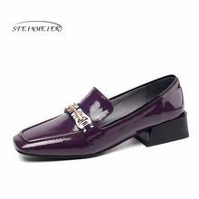 2020 sapatos femininos de couro genuíno deslizamento em apartamentos plataforma brogues senhoras verão mulher gladiador sapatos sola de borracha plana