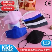 FFP2mask Kids Korean Face Mask Children Mascarillas FPP2 Homologada 4-Layer Fish FFP2 Masks Niños Mascarilla KN95 Infantil FFPP2