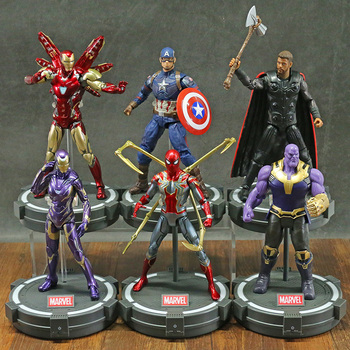 Marvel Avengers Iron Man MK85 Spiderman pieprz Potts kapitan ameryka Thor czarna pantera Hulk Thanos 7 #8222 figurka ZD zabawki tanie i dobre opinie Disney Model 4-6y 7-12y 12 + y CN (pochodzenie) Unisex not for children under 3 years 18~22cm On Avengers Wersja zremasterowana