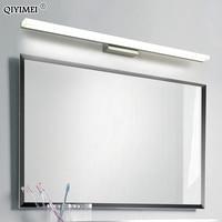 Светодиодный зеркальный светильник из нержавеющей стали AC85-265V современный настенный светильник для ванной комнаты 40 см 60 см 80 см 100 см 120 см ...