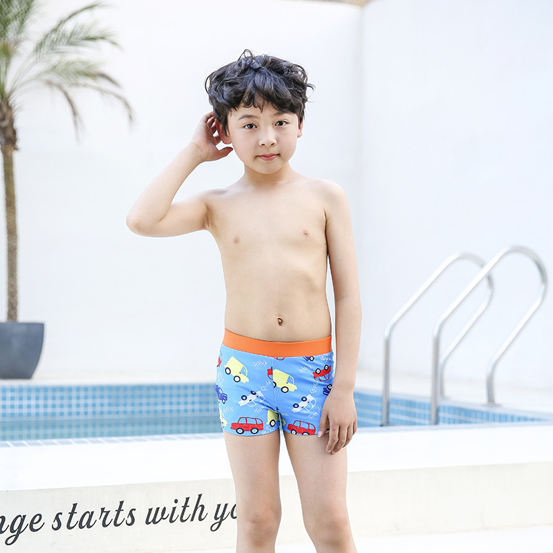 Sharp Swam New Style KID'S Swimwear R24 Handsome BOY'S Swimming Cartoon AussieBum Comfortable Large Size Anti-Chlorine Quick-Dry