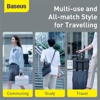 Baseus Waterproof Laptop Shoulder Bag for Macbook Pro Nylon Computer Shoulder Handbag for 13 14 15 inch MacBook Pro Air 13 Case