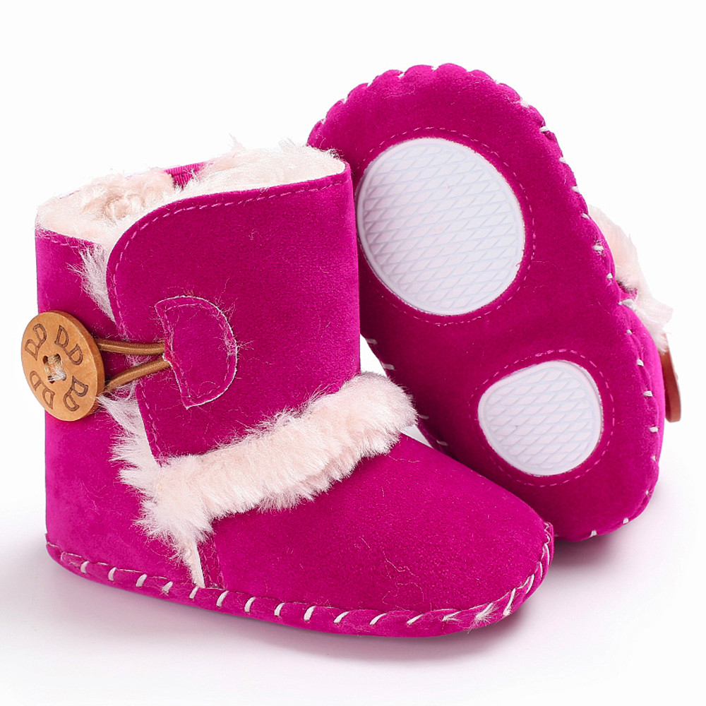 Amiley Toddler Little Boys Girls Warm Antislip Snow Boots Rubber Sole Booties