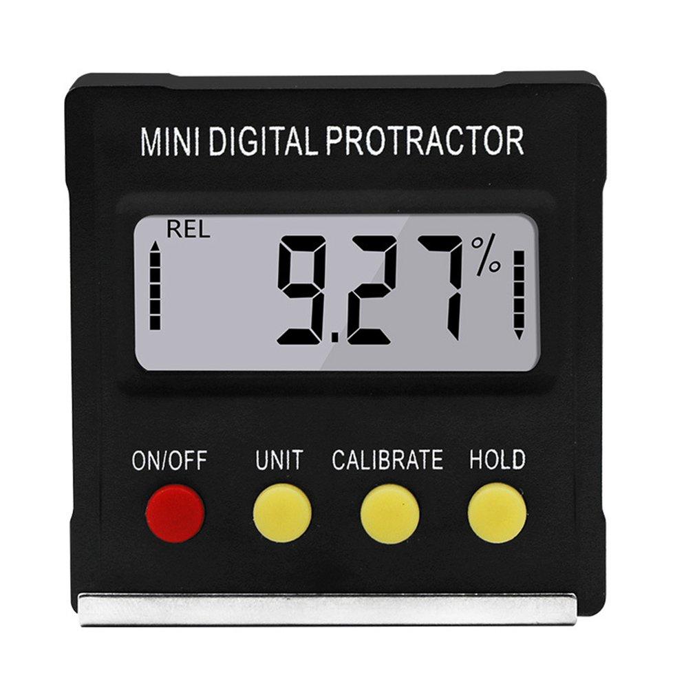 360Degree Mini Digital Protractor Inclinometer Electronic Level Box Magnetic Base Measuring Tools Dropship