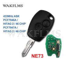 PCF7946A / PCF7947A NE73 Ô Tô Điều Khiển Từ Xa Key Fob Cho Renault Clio III Clio 3 Modus Kangoo 2006 2007 2008 2009 2010 2011 2012
