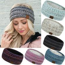 Mulheres inverno moda manter quente tricô feminino bandana esporte artesanal hairband mujer banda para el cabello vogue # j2p