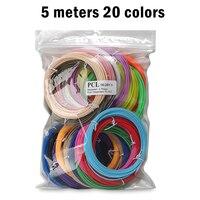 50/100 metri Set 1.75 millimetri PLA Materiale PLA Filamento 3D Ricarica di Plastica Per Stampante o 3D Penna Scuola di Disegno