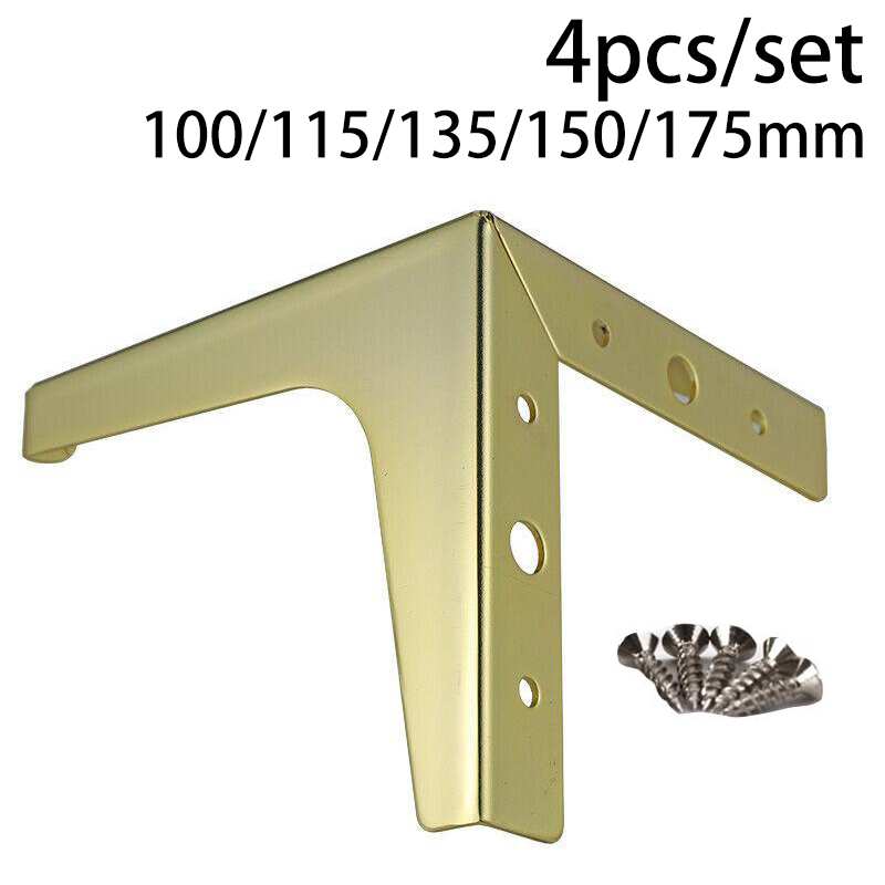 4pcs Steel Sofa Legs Fixing Screws Easily Installation Wooden Chair Cabinet Closet Hardware Furniture Accessories