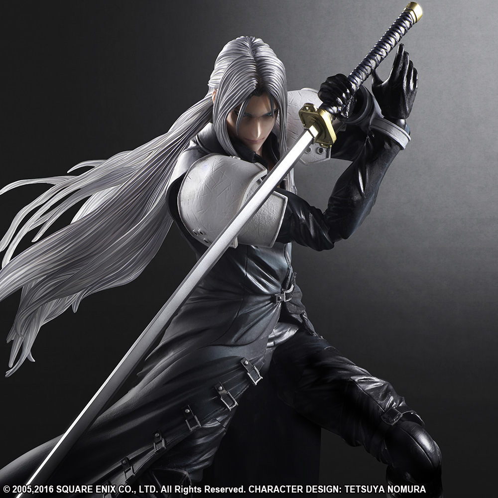 <font><b>Final</b></font> <font><b>Fantasy</b></font> <font><b>7</b></font> Sephiroth Action Figure Collectible Model Toy 25CM image