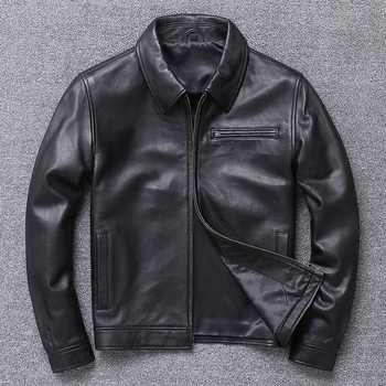 Free shipping.Plus size.Spring Genuine Leather jacket.Men quality Business Casual soft sheepskin coat.Papa clothes.sales - discount item  10% OFF Coats & Jackets