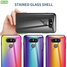 Missbuy Carbon fiber Tempered Glass Cover For LG G5 Soft Silicone Edge LGG5 Cover Case For LG G5 H830 H840 H845 H850 LGG5 Fundas все цены