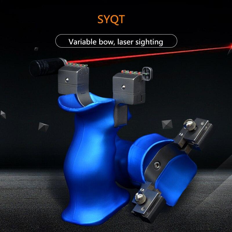 Estilingue de Couro Porta de Aço Springer ao ar Esportes de Potência Laser Visando Novo Plano Ajustável Arco Inoxidável Rápida-imprensa Livre Grandes