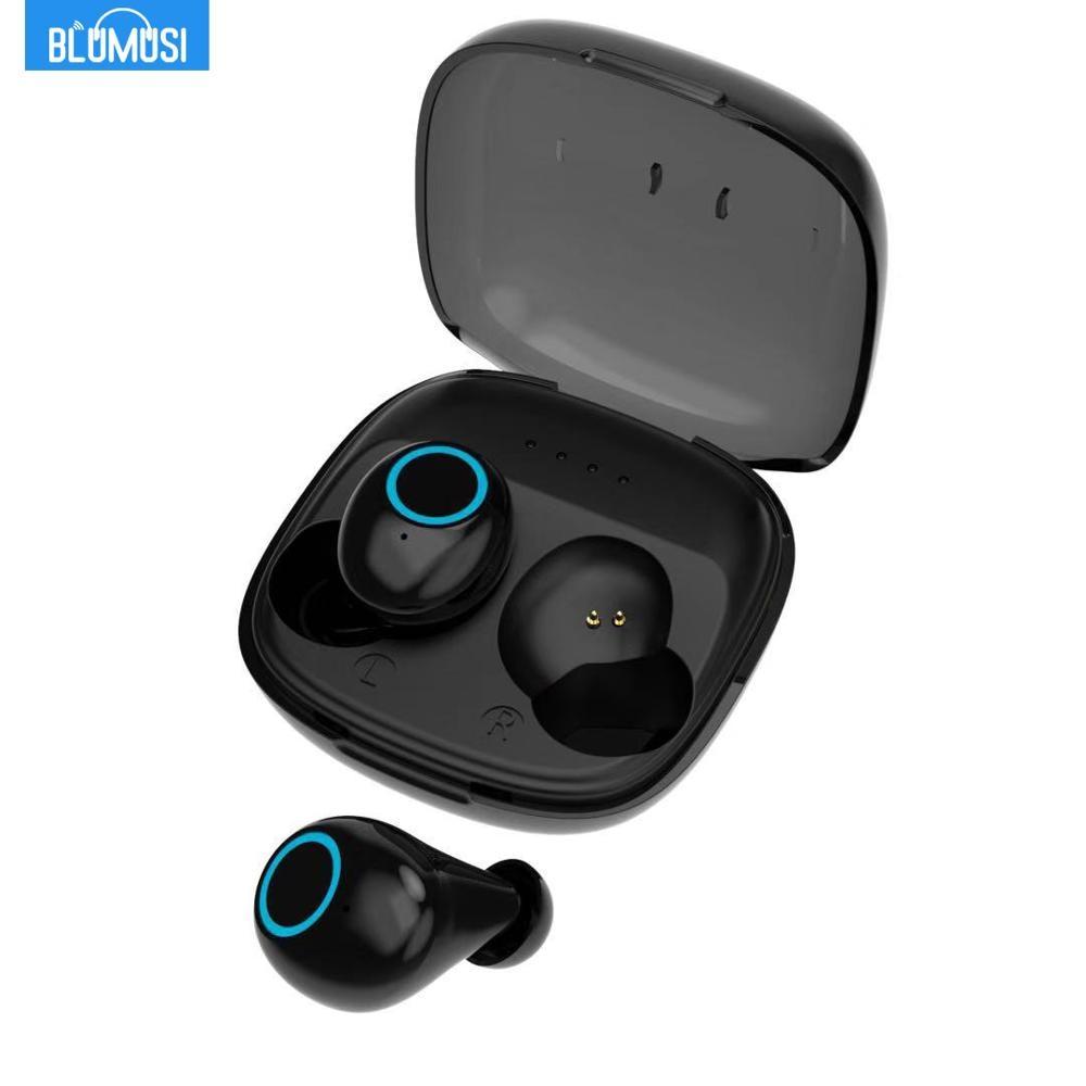 BluMusi K11 TWS Fones de Ouvido Estéreo Sem Fio Fones De Ouvido Bluetooth 5.0 Sem Fio Verdadeira Auto Conectar Mini Fone De Ouvido Fones de Ouvido De Baixo