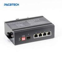 10/100/1000M Industrial Unmanaged SFP Fiber Switch 1SFP Slot+4RJ45 Fiber Optical Switch