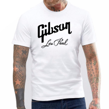 Unisex GIBSON LES PAUL Logo T-shirt Rock Metal t shirt Guitar Amp Instrument Red